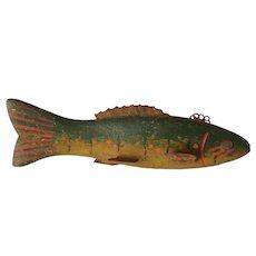 Antique folk art FISH Decoy, trout