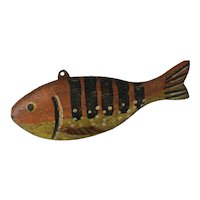 Antique folk art Weighted FISH Decoy