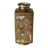 Japanese Meiji era Satsuma Vase hand painted scenes