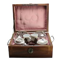 19th Century French Travelers Porcelain Tea Service