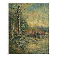Blanche Scharff Skrainka American 1873-1958 Oil painting c 1900 Landscape