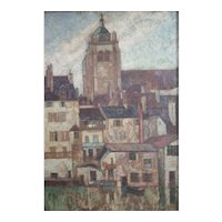 Harry Lachman American 1886 - 1975 Oil painting Parisian cityscape