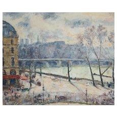 Arthur Fillon (French American 1900 - 1974) Impressionistic Oil painting Paris