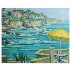 Helen Caudle Winslow (American 1916 - 2008) Oil painting Coastal Seascape