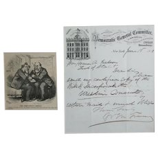 William M. Tweed, Autograph Tammany Scandal Democratic General Committee