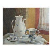 Emmanuele (Emanuele) Costa Italian 1875-1959 Oil painting Porcelain Sill Life