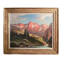 Robert William Wood (1889 - 1979) Oil painting stunning Mountainous landscape