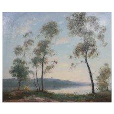 Dedrick Brandes Stuber (California,1878-1954) Oil painting Landscape Trees