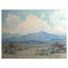 George Bickerstaff California 1893-1954 Oil painting Desert Landscape
