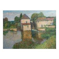 Harry Lachman American 1886 - 1975 Landscape Oil painting Moulin Tourain