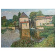 Harry Lachman American 1886 - 1975 Landscape Oil painting Moulin Tourain