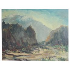 Dorothy R. (Millard) Liss (1902-1990) California Oil painting Mountain landscape