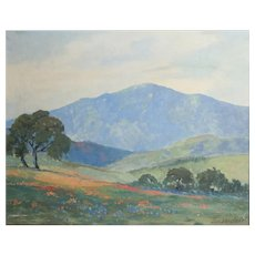 George Bickerstaff (California 1893-1954) Oil painting California Landscape
