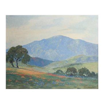 George Bickerstaff (California 1893-1954) Oil painting California Landscape