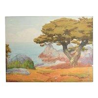 Charles L. A. Smith California 1871 - 1937 Watercolor painting California Coast
