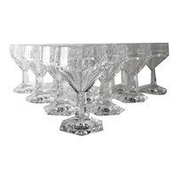 11pc Val St Lambert GARDENIA Red Wine Glasses Cut Crystal