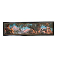 Maxfield Parrish (American 1870-1966) Original Color Lithograph Rubaiyat