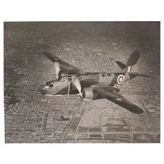 WWII Silver Gelatin Photograph, Douglas A20 Havoc DB-7 Boston. 1941. Signed