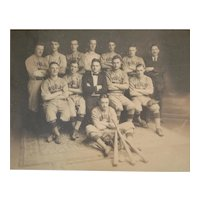 Antique Photograph Public Market Baseball team, c1910 Henry James Seeley