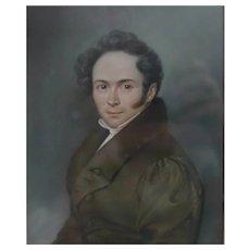 Franz Kruger (German 1797 - 1857) Pastel Drawing portrait of young gentleman
