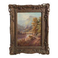 John Thomas Serres (British 1759 - 1825) Oil Painting Landscape c1870
