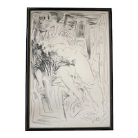 William Brice (1921 - 2008) Lithograph on paper, Reclining Nude Figure, Signed