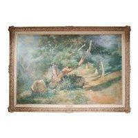 Igancio Vidal (Spanish 1903-) Grand Landscape Oil Painting
