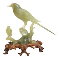 Chinese Jade Carved Bird Figurine