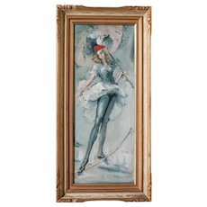 Roderic O'Connor Montagu (1907 - 2001) Oil painting Female Acrobat