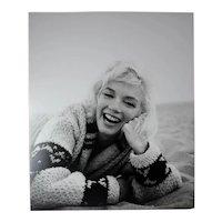 George Barris, Black and White Photograph Marilyn Monroe Santa Monica Beach 1962