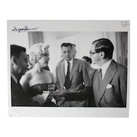 George Barris Black & White Photograph Marilyn Monroe Irving Berlin 8x10 Signed