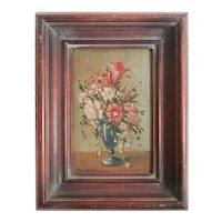 Gino Tassinari (19-20th Century) Miniature Oil Painting Floral