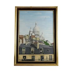 Raymond Ferry American 20th Century Oil Painting Paris cityscape