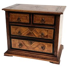 Continental 1920 Parquetry Inlay Dresser or Jewelry Box