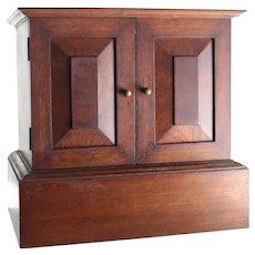 English Mahogany Front and Rear opening Box Tantalus circa 1900