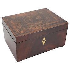 19th century English Wood Inlay Marquetry Box