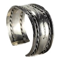 Old Pawn Navajo Sterling Silver Cuff Bracelet c1940