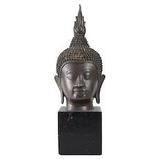 Antique Thai Ayutthaya style Buddha Bust Head fragment