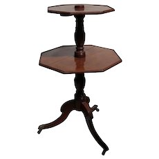 19th century English Two Tiered Drop Leaf Tea Table