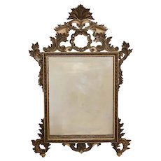 Continental Carved gilt wood Over-mantle Wall mirror