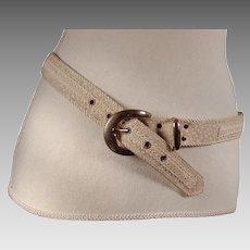 Vintage Elite Designer Sand Color Belt Made in USA