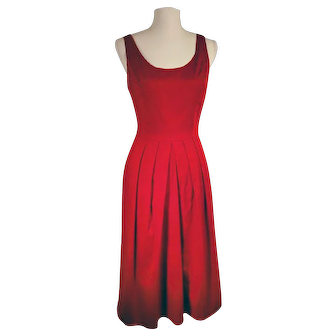 Vintage Moods Brand Red Classic Day Dress Made in USA