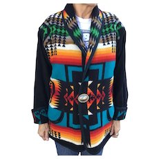 Vintage woman's reversible jacket with native Indian design