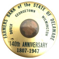 Premium Mirror Farmers Bank of State of Delaware 140th Anniversary