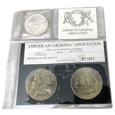 1898 Morgan Silver Dollar Graded ms65/65