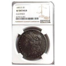 1893-S U.S. Morgan Silver Dollar Xtra Fine