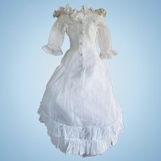 White Day Dress for a China or French Fashion