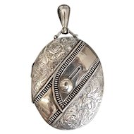 Victorian, English, Vintage, Sterling Silver, Buckle Locket