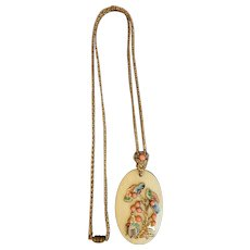 Czech, Neiger, Vintage, Celluloid, Asian Themed, Necklace