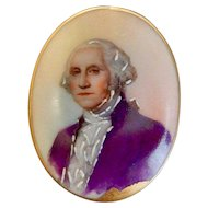 Antique, George Washington, Portrait, Brooch